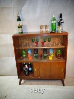 Retro Teak 50s 60s Cocktail Cabinet Vintage Accueil Bar Boissons Cabinet Boissons Bar