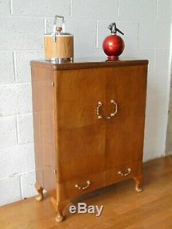 Rétro Turnidge Noyer Cocktail Bar Cabinet Boissons