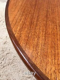 Retro Upcycled Demi Lune Table Console En Épingle À Cheveux G Plan