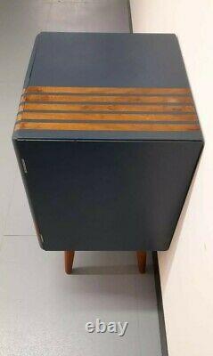 Rétro Vintage MID Century Vinyl Record Storage Armoire Armoire Unité