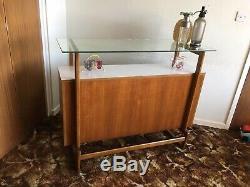 Rétro Vintage Milieu Du Siècle Teck Cocktail Bar Unité Cabinet