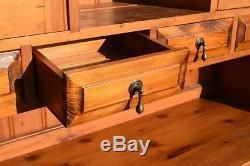 Rétro Vintage Pin Massif Rustique Welsh Dresser / Cabinet-cuisine Du Pays