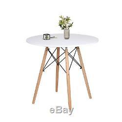 Ronde De Table Et 2/4 Chaises Table Ronde Ensemble Bois Pieds Cuisine Bureau Accueil