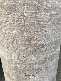 Rouleau Fait Main Qualité Tapis Fin Enroulé Tencel Vintage Blé 5x1.30m Rrp £ 950