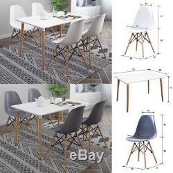 Salle À Manger Rectangulaire Table Et 4 Chaises Ensemble Salle À Manger Cuisine Salon Moderne