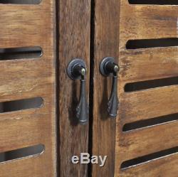 Salle De Bains Vintage Meubles En Bois Grand Lavage Rangement Unité 2 Armoires