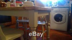 Shabby Chic Cottage Table De Salle À Manger Cuisine Vintage Et 4 Chaises