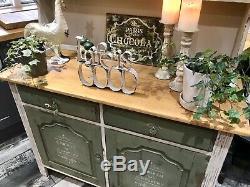 Shabby Chic Vintage Dresser Annie Sloan Pays Gris Et Olive