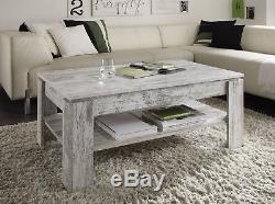 Shabby Chic White Pine Table Basse Rustique En Bois Salon Nouvelle Table D'appoint