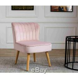 Soft Chair Velvet Crush Accent Bain Vanity Sofa Fauteuil Banc Chambre Salon Nouveau