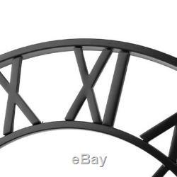 Squelette Horloge Murale Jardin Extérieur Extérieur Chiffres Romains Métal À Face Ouverte Géante
