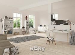 Steens - Commode Moderne À 5 Tiroirs Soft Line Designer En Blanc Et Chêne