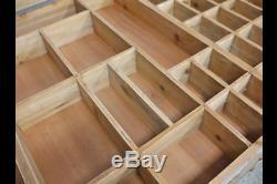 Style Industriel Table Basse En Bois Avec Des Roues Et Un Espace De Rangement