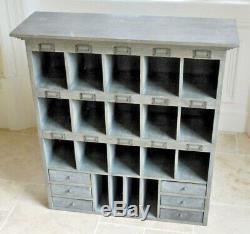 Style Industriel Vintage Libre De Meuble De Rangement En Bois Grand Trou De Pigeon