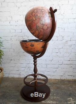 Style Vintage Vintage Rétro Italien Zoffoli Globe Boissons Cabinet Bouteille Rack Bar