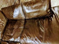 Suite Chester Sofa En Cuir Laura Ashley Brun Baslow 4/5 Places