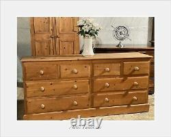 Superbe Vintage Haberdashery Apothecary Bank Chest Of Drawers Raccords De Queue De Colombe