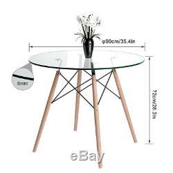 Table À Manger Et 2/4 Chaises Set Pieds En Bois Cuisine Restaurant Office Accueil Nouveau Royaume-uni