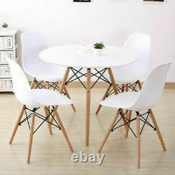 Table À Manger Ronde Et 4 Chaises Ensemble Salle À Manger Salon Style Rétro