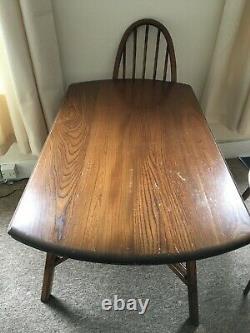 Table À Manger Vintage Ercol Drop Leaf Des Années 1960 Et 4 Chaises