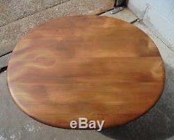 Table Basse Ercol Vintage Rétro MID Century Light Avec Porte-revues