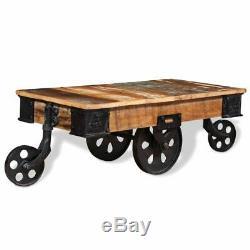 Table Basse Vidaxl En Bois De Récupération 90x45x35 CM Table D'appoint