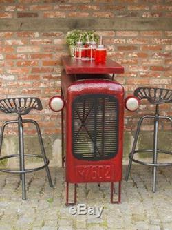 Table De Bar Industrielle Rustique En Métal Salle À Manger Haute Rétro Cuisine Vintage Petit Déjeuner