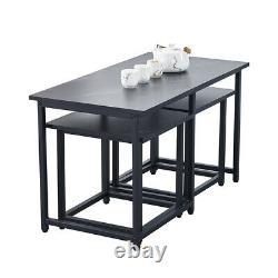 Table De Bar Vintage Et 2/4 Tabourets Ensemble Industrial Breakfast Bar Table Table Ensemble