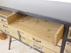 Table De Console Vintage En Bois Récupéré Vintage Industriel En Bois De Buffet (d3689)