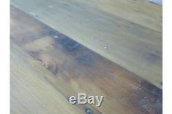 Table De Cuisine De Salle À Manger En Bois De Récupération / Fer Industriel À Usage Urbain 181 X 66 CM