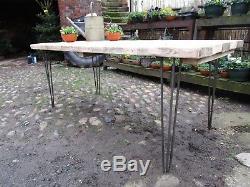 Table De Cuisine / Table De Cuisine Rustique Rétro Vintage En Épingle À Cheveux En Épingle À Cheveux