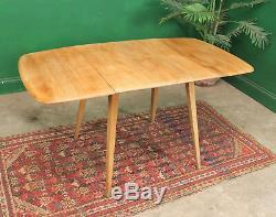 Table De Planches Ercol Drop Vintage, Orme Léger, Rétro, Cuisine, Salle À Manger, Windsor
