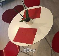 Table De Salle À Manger Blanche Rétro Cuisine Rétro Cuisine Bistro Bois Et Métal Jambes Argentées