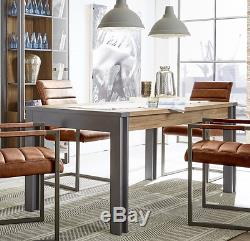 Table De Salle À Manger De Style Industriel Table De Salle À Manger De Style Rétro En Bois