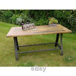 Table De Salle À Manger En Bois Reconstituée Industrielle Vintage Rétro Vintage (d3500)