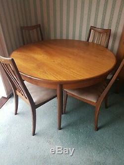 Table De Salle À Manger Extensible Et 4 Chaises Vintage Retro Teck G Plan