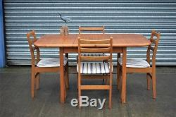 Table De Salle À Manger Extensible Rétro Vintage Et 4 Chaises