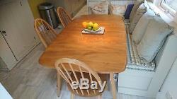 Table De Salle À Manger Extensible Vintage Ercol Plank Et Six Chaises