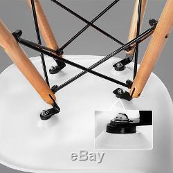 Table De Salle À Manger Rectangulaire Et 4/6 Blanc Eiffel Dsw Design Rétro Chaises En Bois De Style