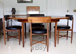 Table De Salle À Manger Rétro Vintage Plan G Et Chaises En Teck 4 Salle À Manger Des Années 1970