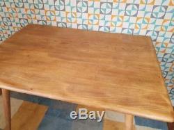 Table De Salle À Manger Vintage Ercol, Blonde, Orme Rétro