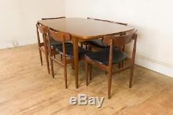 Table De Salle À Manger Vintage Retro G Plan Noyer MID Century Et 6 Chaises