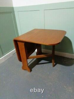 Table Retro Teck Table Table Vintage Table Table MID Century Modern Drop Leaf
