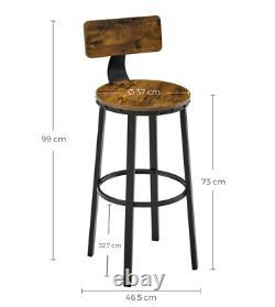 Tabourets Bar Industriel Chaise Vintage Tall Rustic Metal Petit Déjeuner Salle À Manger Set De Sièges2