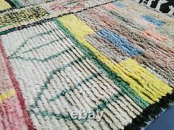 Tapis De Laine Marocain Vintage Fait Main 5'5x8'7 Berbère Boujaad Tribal Colorful Rug