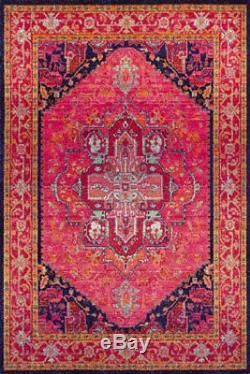 Tapis De Salon, Tapis De Couleur Rose, Design Vintage Traditionnel
