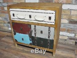 Tiroirs Coffres À Buffet Multicolore De Style Vintage Antique En Détresse (dx4272)