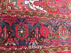 Très Grand Tapis Tapis Ancien Vintage En Laine 202 X 282 CM Pers Ian