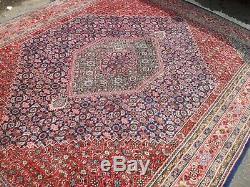Très Grand Tapis Vintage Antique Laine De Tapis 196 X 251 Pers Ain Bidi-jar