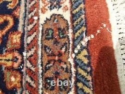 Très Grand Tapis Vintage Antique Tapis Laine 325 X 226cm Pers Ain Bidi-jar